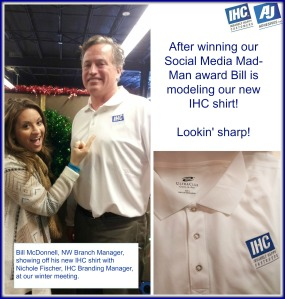 Bill, Social Media Mad Man, IHC shirt
