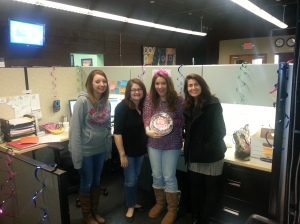 My team surprised me on my birthday!